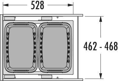 Hailo Laundry Carrier 500 dunkelgrau