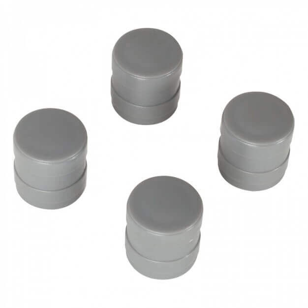 Set of base tubes (2 pces.) + stoppers (4 pces.)
