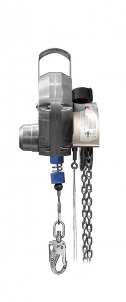 Haspelkettenantrieb für Höhensicherungsgerät