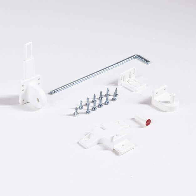 Mounting accessories, white