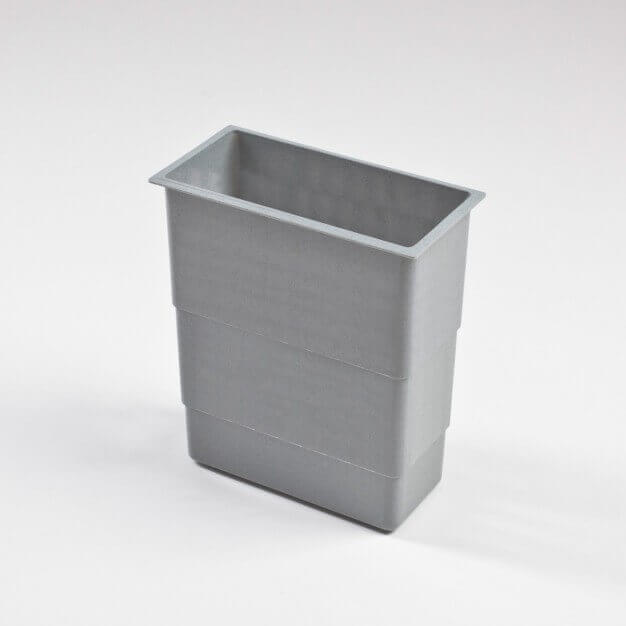 Cleaning material basket, grey