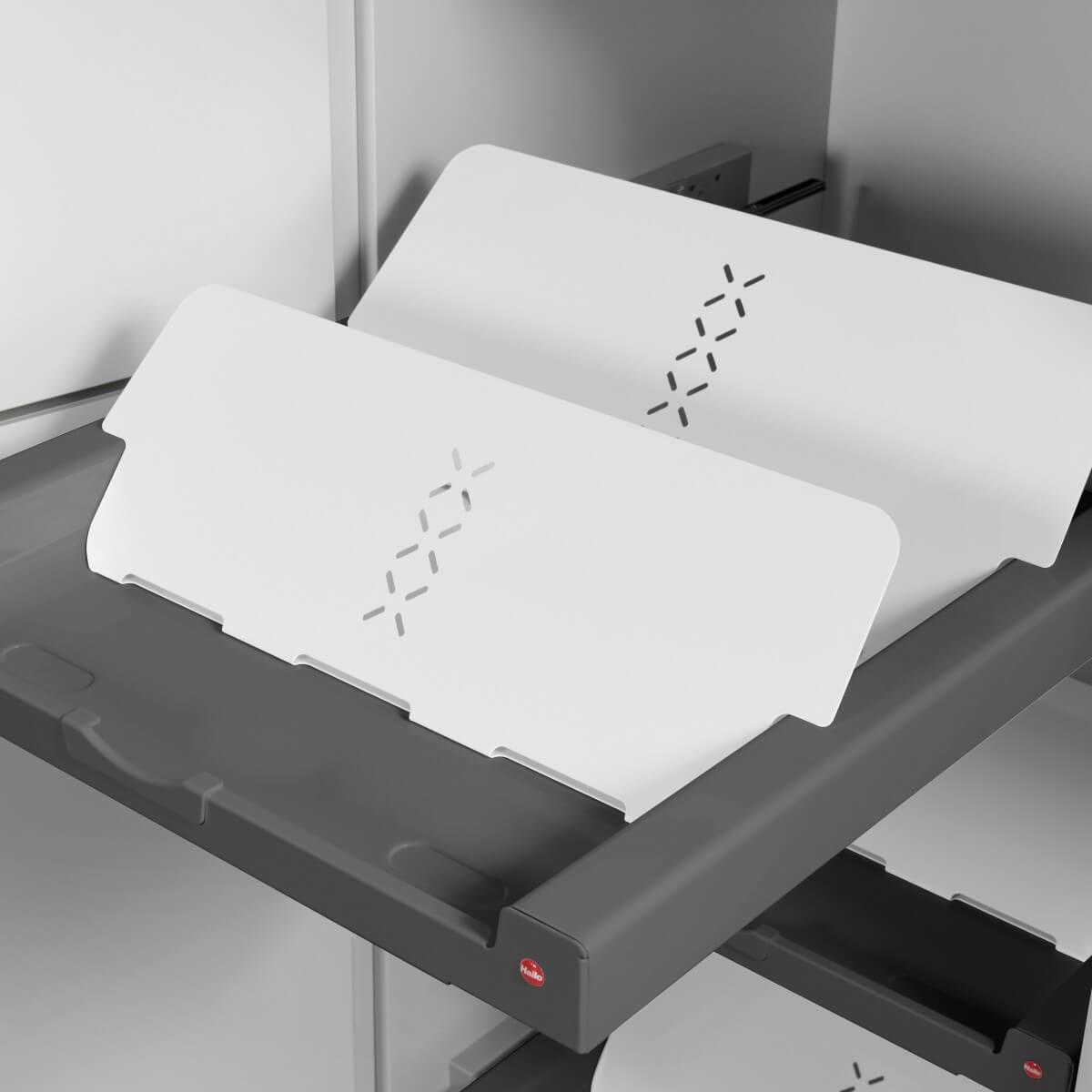 Set Shoe Rack weiß + Universaltablar dunkelgrau