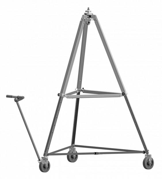 Aluminium Dreibaum mit Rollen Typ DB-AR mit Rollen