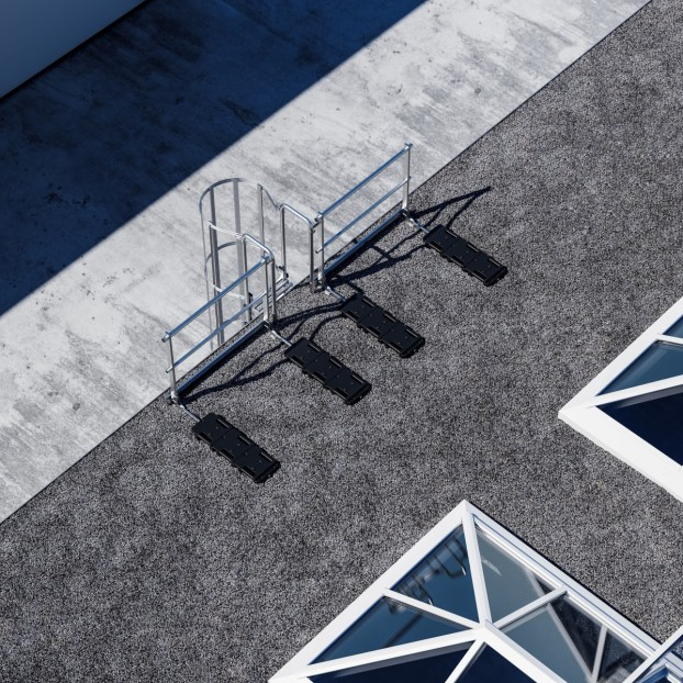 Dachgeländer Leiterausstieg mit Fußleiste