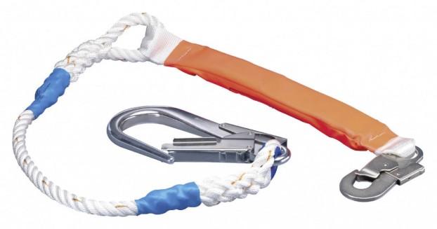 Verbindungsmittel Bandfalldämpfer mit Karabinerhaken und Rohrhaken