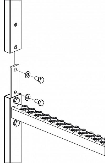 Leiternverbinder Holm 40x20 mm