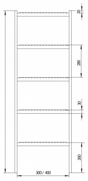 Schachtleiter LW400mm