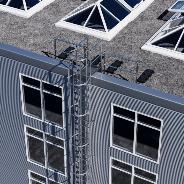 Dachgeländer Leiterausstieg ohne Fußleiste
