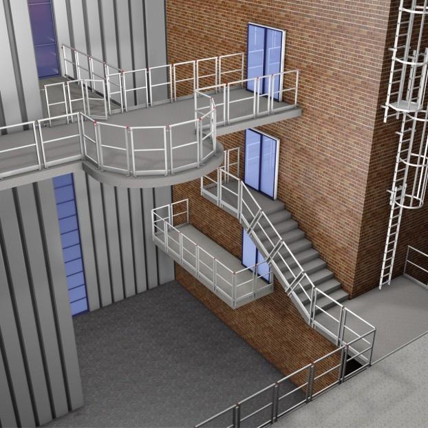 Geländerelement Montage von oben