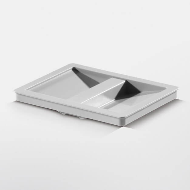 Lid for 6.5-litre inner bin, signal grey