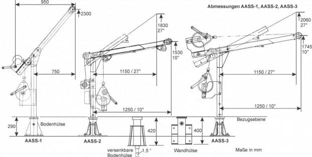 Auslegearm Typ ASS-3