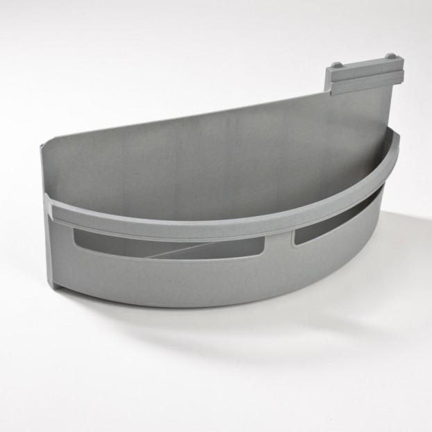 Utensil tray right, grey