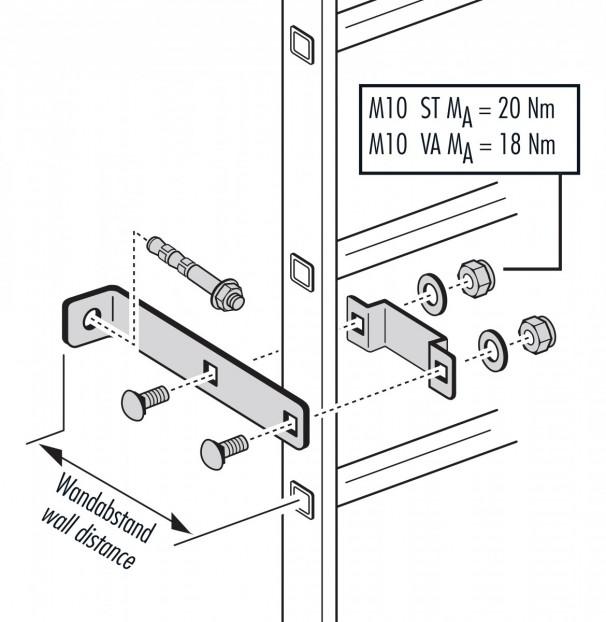 Wandhalter für Holm 72x25mm