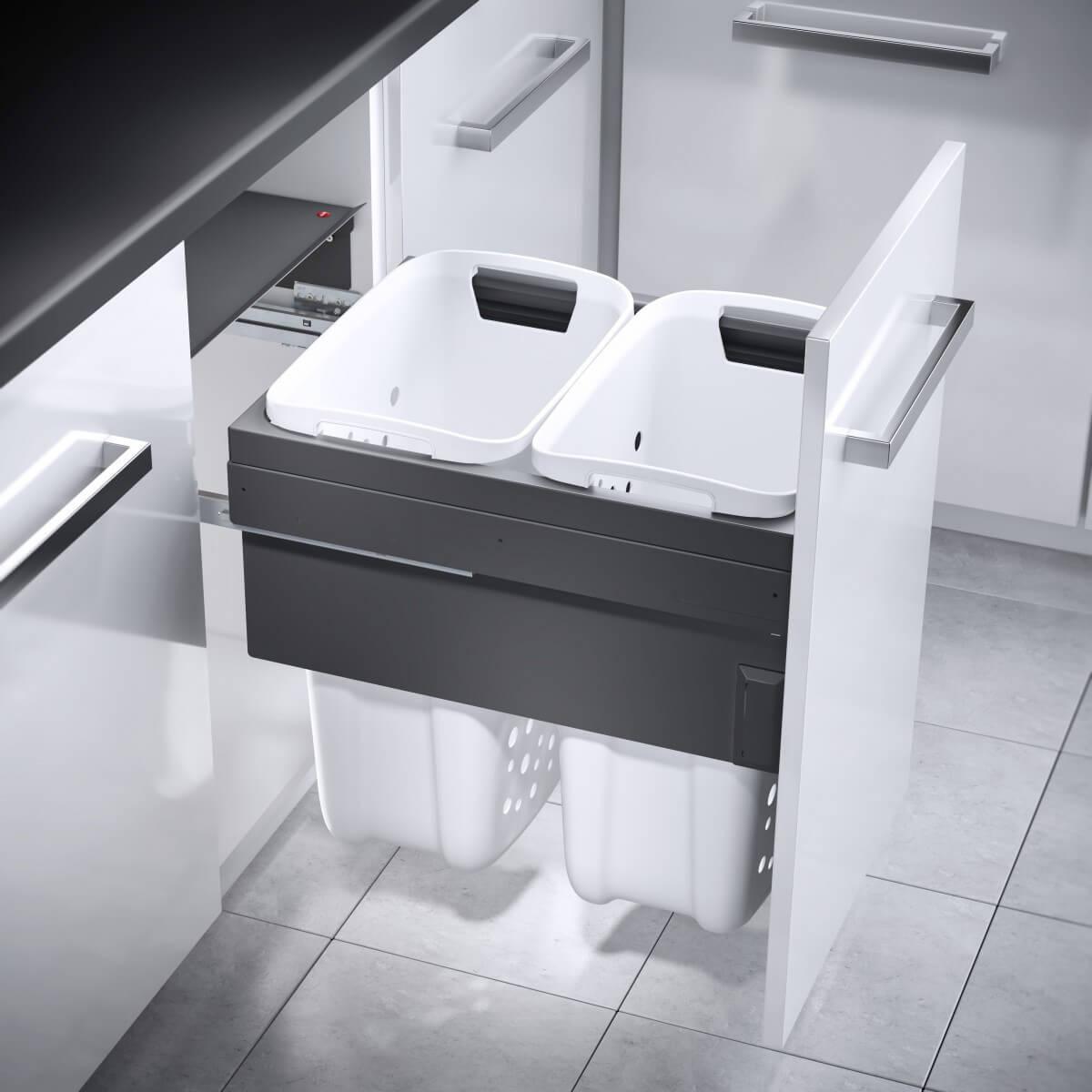 Hailo Laundry Carrier 450 dunkelgrau