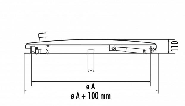 HS4 aus Edelstahl 1.4301 / AISI 304