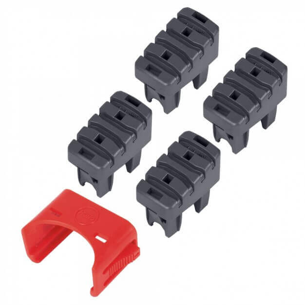 Foot set (4 pieces) support and step stile, inc. mounting clips