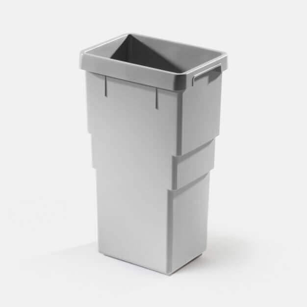 Inner bin 13 litres, light grey